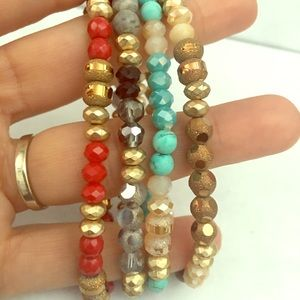 Jewelry - Crystal bead stretch bracelets you pick color